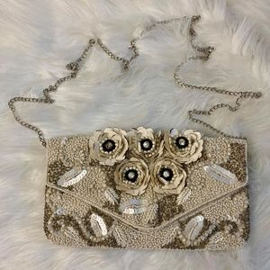Clements Ribeiro Floral White Clutch